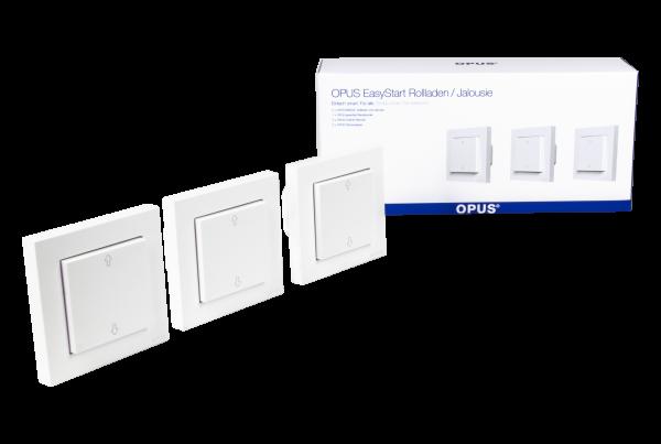 OPUS EasyStart Jalousie - Zentrale Rollladensteuerung polarweiß